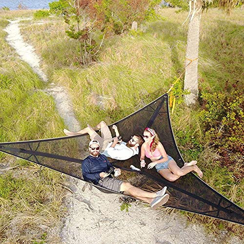 Multi-Person Hammock-Patented 3 Point Design, Revolutionary Giant Aerial Camping Hammock, 2/3-Person Tree Hammock 2.8M, Tree House Air Sky Tent for Outdoor, Garden and Patio
