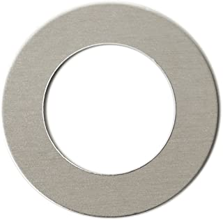 RMP Stamping Blanks, 1 Inch Round Washer with 5/8 Inch Center, Aluminum 0.032 Inch (20 Ga.) - 50 Pack