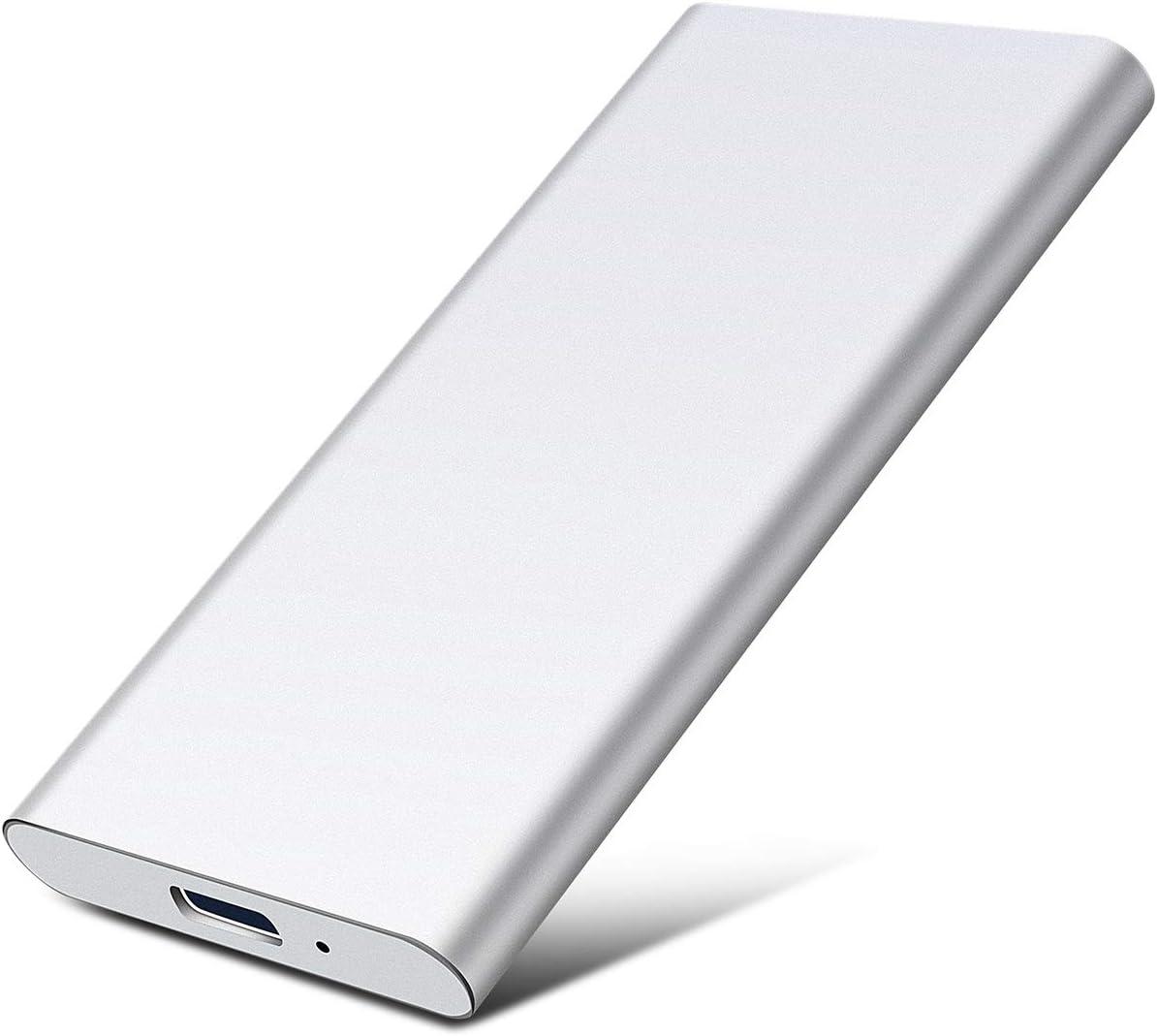 Type C USB3.1 Disco Duro Externo Met/álico HDD Port/átil para PC Disco Duro Externo 1 TB 1TB,Plata TV. Xbox One Desktop Laptop