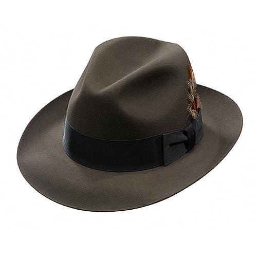 c196faaa1c42d Stetson Men s Sttson Temple Royal Deluxe Fur Felt Hat