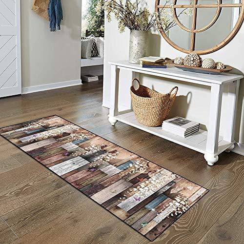 Qonei Teppich Läufer Flur Küche Bunt rutschfest 60×200, Vintage Läufer Teppich Waschbar Chemischer Faser Geometrisch Gemusterter Anpassbar (Color : #D, Size : 60×200cm)