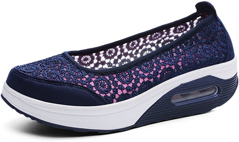 Set adil Women's Toning Slip-On Athletic Sneaker Casual Walking shoes
