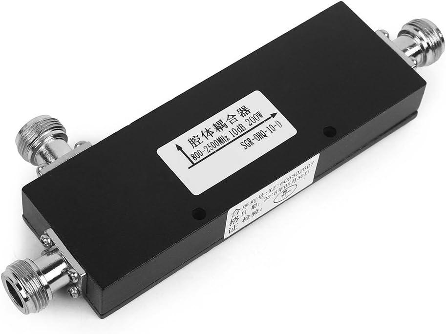 10dB acoplador direccional Divisor de señal Acoplador Acoplamiento de 800-2500 MHz, con N Hembra,Impedancia: 50ohm,para Reducir La Interferencia Mutua ...