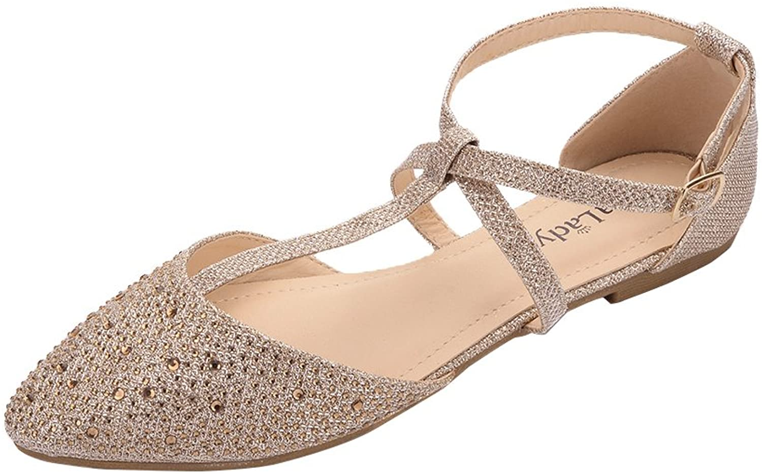 Max Sale Special Price 49% OFF Mila Lady Laurel Womens Pointed Toe Ankle D'Orsay Strap T-Strap