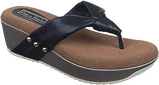 Flat n Heels Womens Black Wedges FnH 4731-MS-BK
