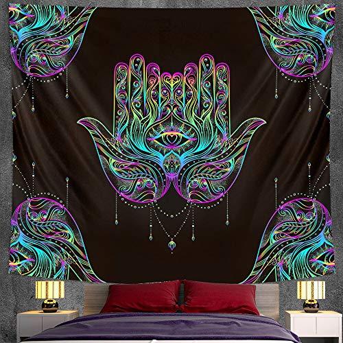 PPOU Suerte psicodélico hogar Art Deco Tapiz Colgante de Pared brujería Hippie decoración Bohemia Manta Tela Colgante A1 130x150 cm