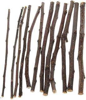 Biuuu ペットハムスターのための自然なアップルツリーブランチおもちゃモルタル木製のおしゃぶりおもちゃ