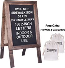 Large Wooden A-Frame Sidewalk Sign 36