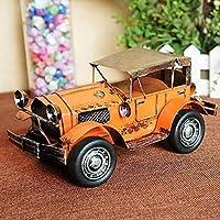SRX モデルオールドカーモデルホースシューオールドカーグッズモデルカーシミュレーションレッド20 * 10 * 9cm