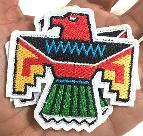 Mexiko Mexikanische Azteken Inka Maya Flaggen Bügelbilder Zubehör für Jeans Jacken Hüte Rucksäcke Hemden Accessoires für Männer Frauen Unisex Stil Mode Design (Aztec Family Pack)
