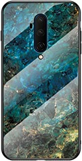 "MOONCASE ケース 用 OnePlus 7T Pro, 超薄型 柔らかい TPU 耐衝撃性 引っかき傷に強い 指紋防止 カラフルなパターンとガラス ケース 用の OnePlus 7T Pro 6.67"" (エメラルド)"