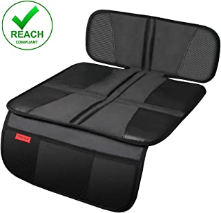 Car Seat Protector - Children Seat Protection Mat - Car Seat Protector for Baby Child Car Seats - Auto Seat Cover Mat for Under Carseat with Thickest Padding to Protect Leather & Fabric Upholstery