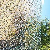 LMKJ Película de Ventana Decorativa teñida en 3D Privacidad estática Clips de Ventana no Adhesivos Efecto arcoíris Etiqueta de Vidrio de Vinilo para el baño del hogar A86 60x100cm