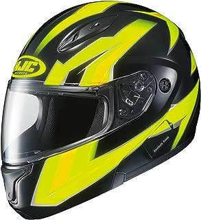 HJC CL-Max2 Ridge Modular/Flip Up Motorcycle Helmet (Hi Viz/Black, Small)