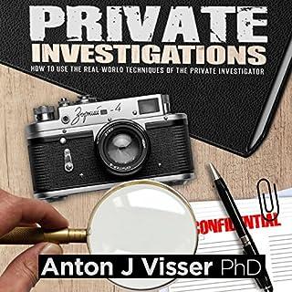 Private Investigations audiobook cover art