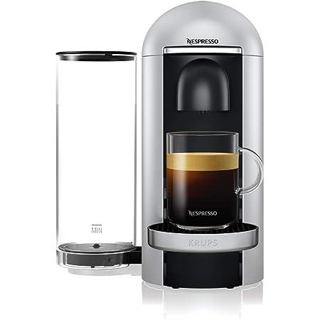 Krups Vertuo Plus silver Machine expresso, Nespresso, Machine à café, Cafetière expresso, 5 tailles de tasses, 1,8L, Capsule de café, Espresso YY4152FD