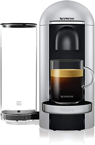 Krups Vertuo Plus silver Machine expresso, Nespresso, Machine à café, Cafetière expresso, 5 tailles de tasses, 1,8L, ...