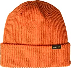 Get outfitted for the field with the Filson® Watch Cap. Fine-knit beanie with a cuffed silhouette. Logo tab at cuff. Fold-over, rib-knit cuff. 100% wool. Hand wash cold, dry flat. Made in the USA. Measurements: Circumference: 16 in