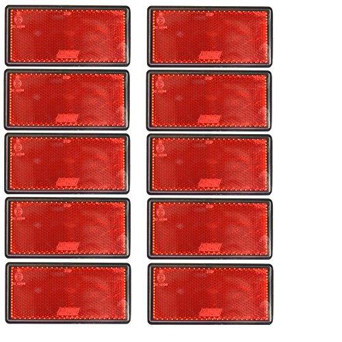 AB Tools Grand réflecteur arrière Rouge Pack 10 Clôture Barrière Remorque TR212 Autocollant Post
