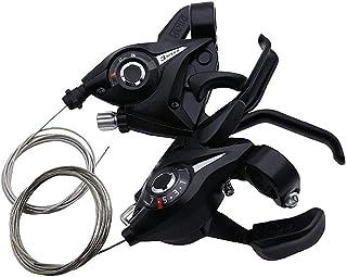 NGHSDO Radfahren 7 8 9 Gang-Schaltung Fahrrad Dual Control Hebel Rennrad Schalthebel Kompatibel for 22.2-23.8mm Lenker fahrradbremse