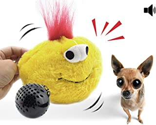 Interactive Plush Squeaky Dog Toys, Electronic Motion Ball Pet Toy, Crazy Bouncer for Prevent Boredom