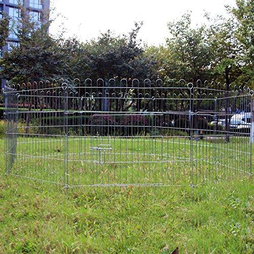WilTec Parc pour Chiots Parc à Chien 8 pcs. 80x75cm par élément