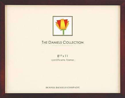 Dennis Daniels Gallery Woods Certificate Frame, 8.5 x 11 Inches, Walnut Finish
