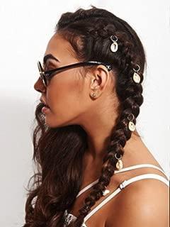 Nicute Boho Shell Dreadlocks Hair Rings Silver Head Clip Hair Accessories for Women and Girls