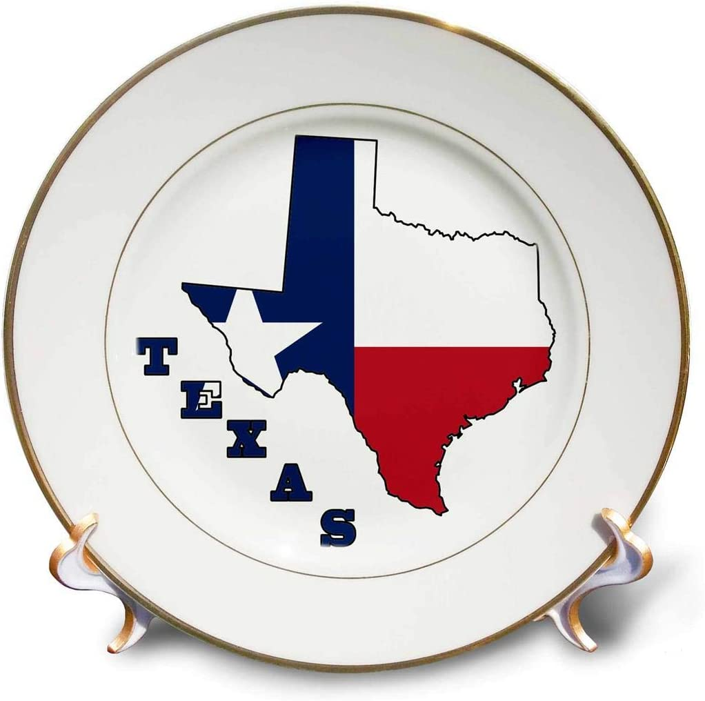 3dRose cp_58725_1 Fashionable Texas State Flag Outline Map Letters Austin Mall The in