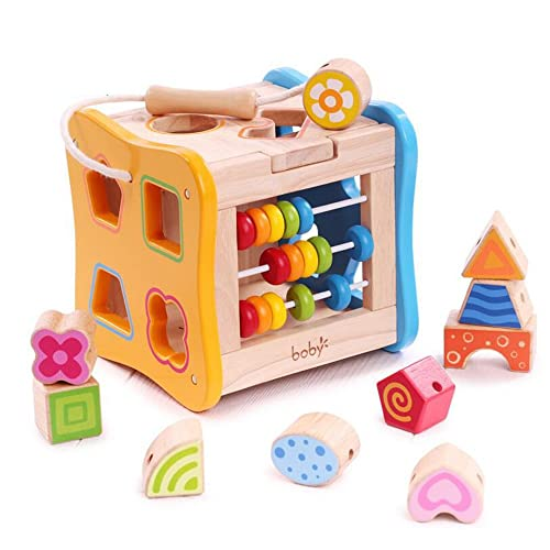 Rolimate Colorful Preschool Early Development Wooden Educational Game Toy Gift Box
