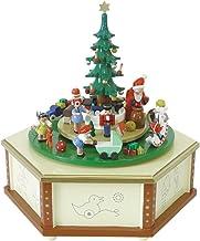 Richard Glässer Seiffen Mechanical Music Box Santa Giving Out X-mas Presents, Original Erzgebirge by Richard Glaesser Seiffen