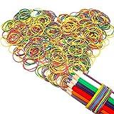 Gomas Elasticas de Colores Surtidas,Xiuyer Bandas de Goma 38 x 14 mm Papeleria Rubber Band para Hogar Colegio Banco Oficina Artículos(200g, acerca de 600 piezas)