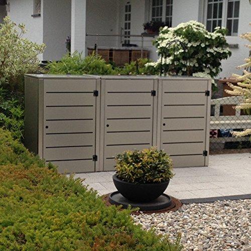 Mülltonnenbox Edelstahl, Modell Eleganza G, für 120 Liter Tonnen