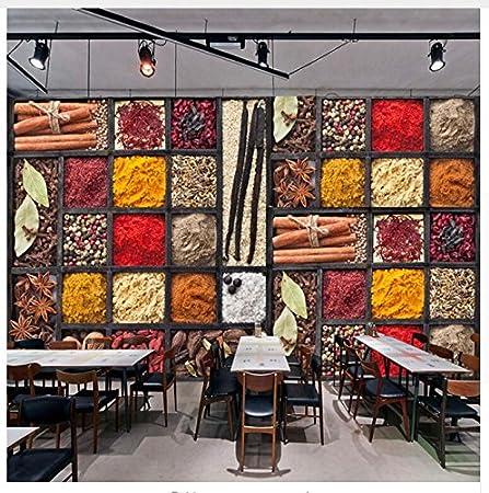 Amazon Com 3d Wallpaper Mural Custom Photo Spices Seasoning Ingredients Raw Materials Food Wall Painting Restaurant Kitchen Backdrop Decor Mural Silk Cloth Sticker200x140cm Ayzr Home Improvement