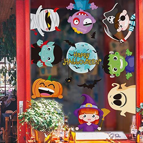 Halloween-Tagesgroße Partei-kreativer selbstklebender Karikatur-netter Kindergarten-Thema-Tätigkeits-Wand-Aufkleber-Aufkleber kann entfernt werden
