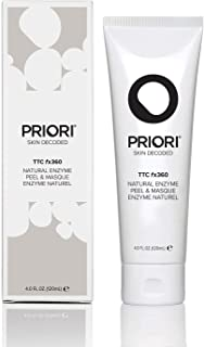 Priori TTC Fx360 Natural Enzyme Peel & Masque for Women and Men – Fragrance Free Purifying & Hydrating Pumpkin & Papaya Enzyme Mask & Peel - Perfect for Acne, Blackheads, Comedones - 4oz (120ml)