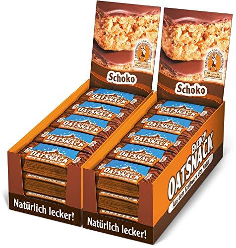 Energy OatSnack, natürliche Riegel - von Hand gemacht, Schoko, 30 x 65 g, 1er Pack (1 x 1950 g)