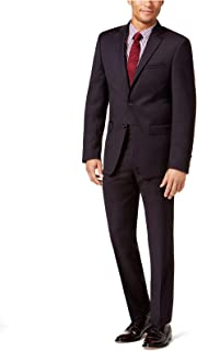 Mens Textured Two Button Suit