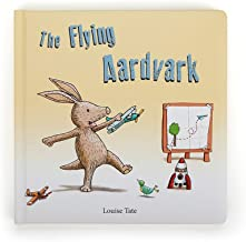Jellycat Board Book, The Flying Aardvark, 9 inches x 9 inches