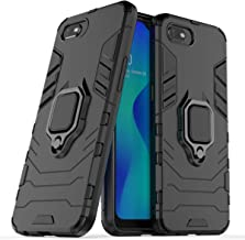 FanTing Case for Oppo A1K/Realme C2, Rugged and shockproof,with mobile phone holder, Cover for Oppo A1K/Realme C2-Black