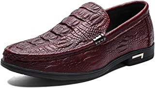 Shoe Driving Loafer for Men Fashion Boat Shoes Slip on Genuine Leather Soft Round Toe Business Breathable Flat Lightweight...