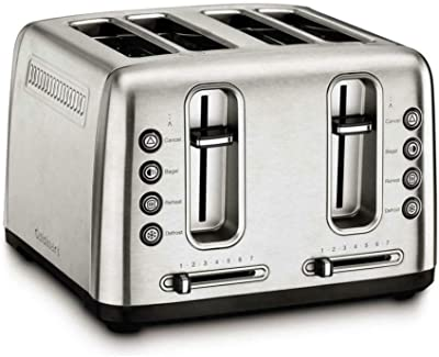 Cuisinart RBT-4900PCFR Stainless Steel 4-Slice Toaster (Renewed)