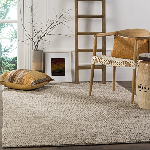 Safavieh Natura Collection NAT620B Handmade Premium Wool Area Rug, 8' x 10', Beige