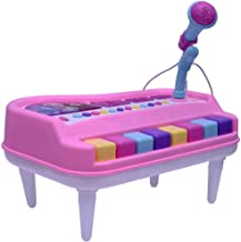 Rvold Cartoon Theme Electronic Organ Piano with Unique Microphone for Kids (Color May Vary)