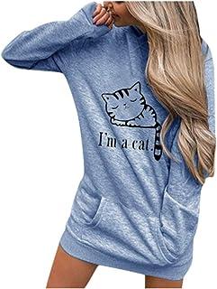 VEMOW Pullover Mujer Manga Larga Capucha Camisa de Entrenamiento Letras Sudadera Encapuchado Tops Blusa Camisetas Camisa O...