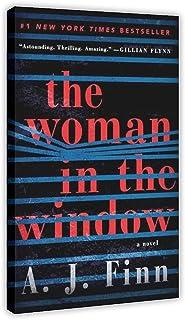 Film kvinnan i fönstret kanvas affisch sovrum dekor sport landskap kontor rum dekor presentram; 30 × 45 cm (12 × 18 tum)