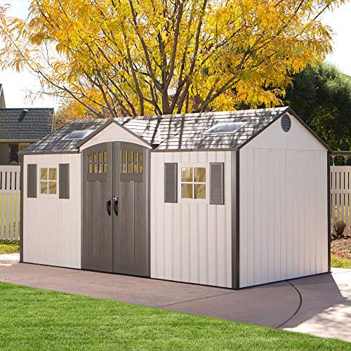 Lifetime 60138 Outdoor Storage Shed, Desert Sand, 15 x 8 Feet