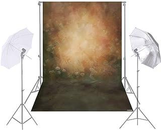 1.5 * 2.1m/5 * 7ft Photography Background Retro Wall Flower Backdrop for DSLR Camera Photo Studio Video Weeding Decor