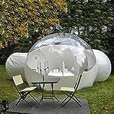 Aufblasbare Blase Igloo-Zelt Einzelne Tunnelfamilie Campingzelt - transparenter 360 °...