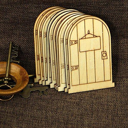 10 pc unlackierte Elfentüren, Schilder, lasergeschnitten, Holz